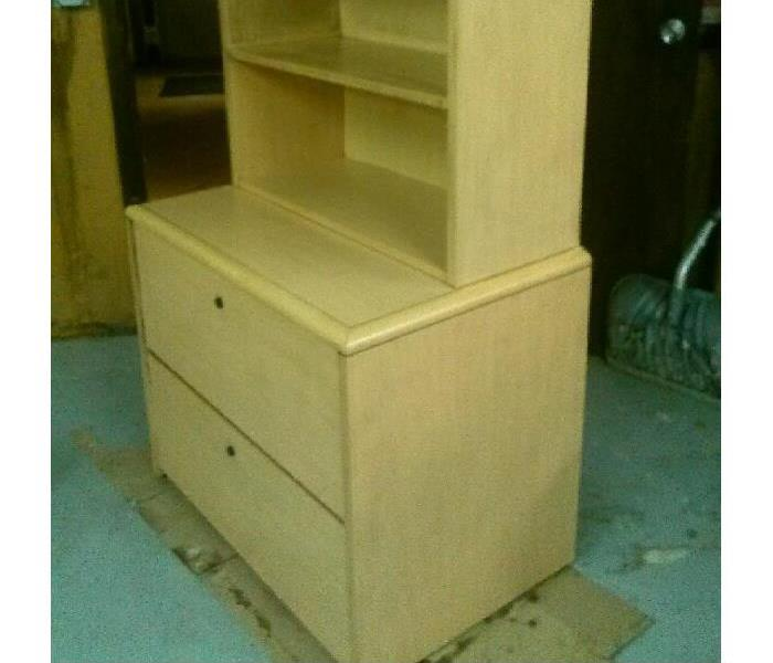 FIRE RESTORATION (BOOKCASE) After