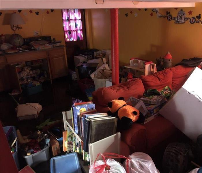 Cluttered home of a hoarder