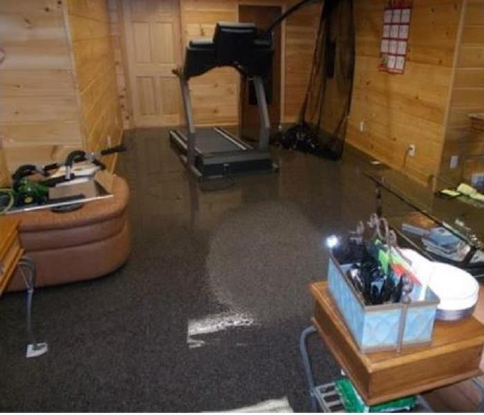 standing water in room of home